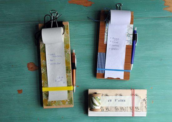 Make a Hanging Notepad.