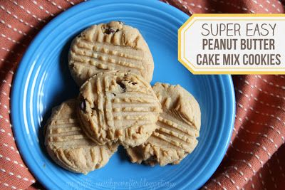 messily ever after: recipe: peanut butter cake mix cookies