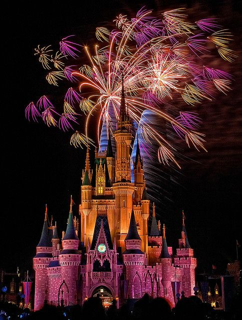 Fireworks over Cinderella Castle, Magic Kingdom, Walt Disney World, FL