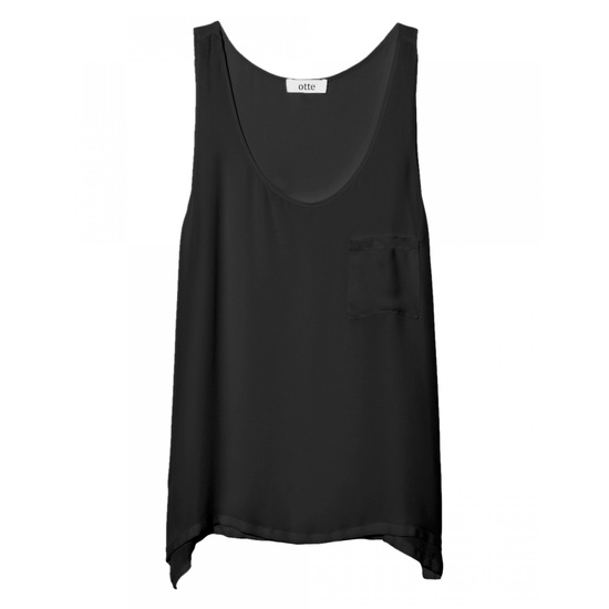 Signature Tank Georgette in Black
