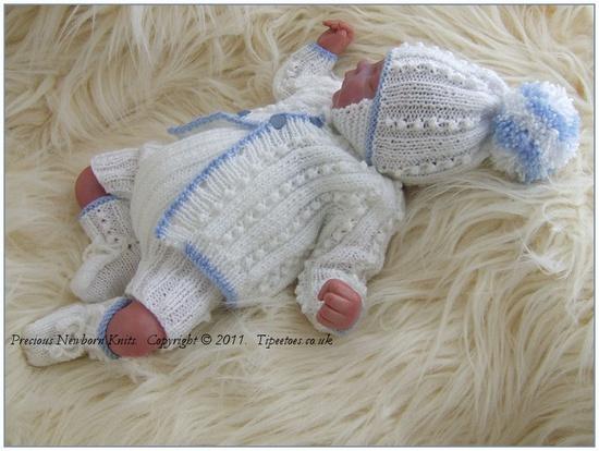 Newborn Baby or Reborn Doll  PDF Knitting Pattern Jacob. $7.00, via Etsy.