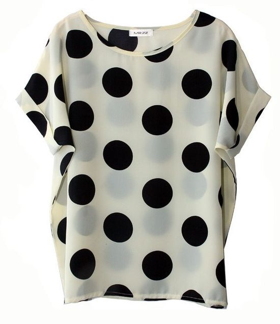 love the large dots in this top
