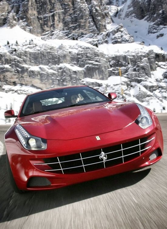 Ferrari FF in dramatic mountain setting. Click on the pic and you can win the #Ferrari driving experience of a lifetime!
