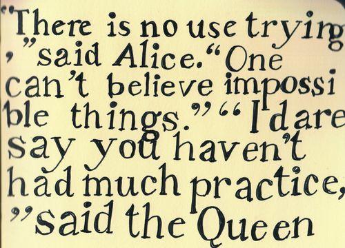 *ALICE in WONDERLAND