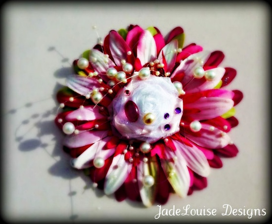 Splash of Pink Roses for Rachel Hair accessory