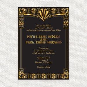 gorgeous gatsby invitation - printable file - i do it yourself
