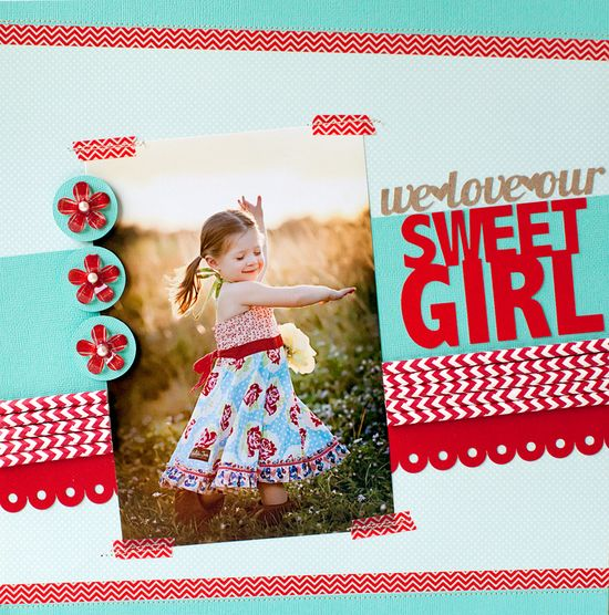 We Love Our Sweet Girl featuring Queen & Co Stylish Stix - Scrapbook.com