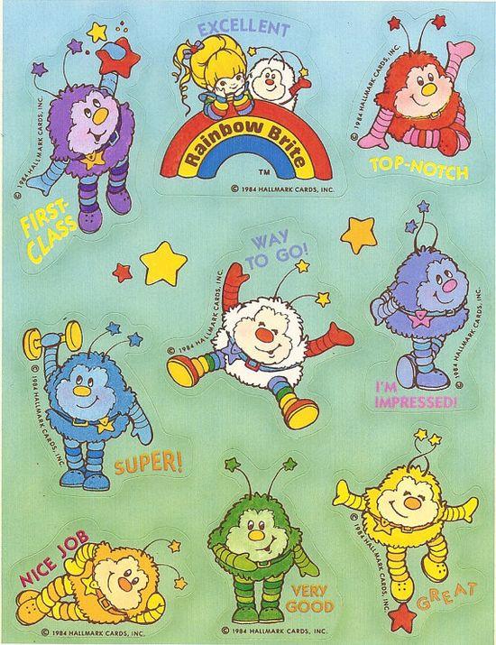 rainbow britestickers1984