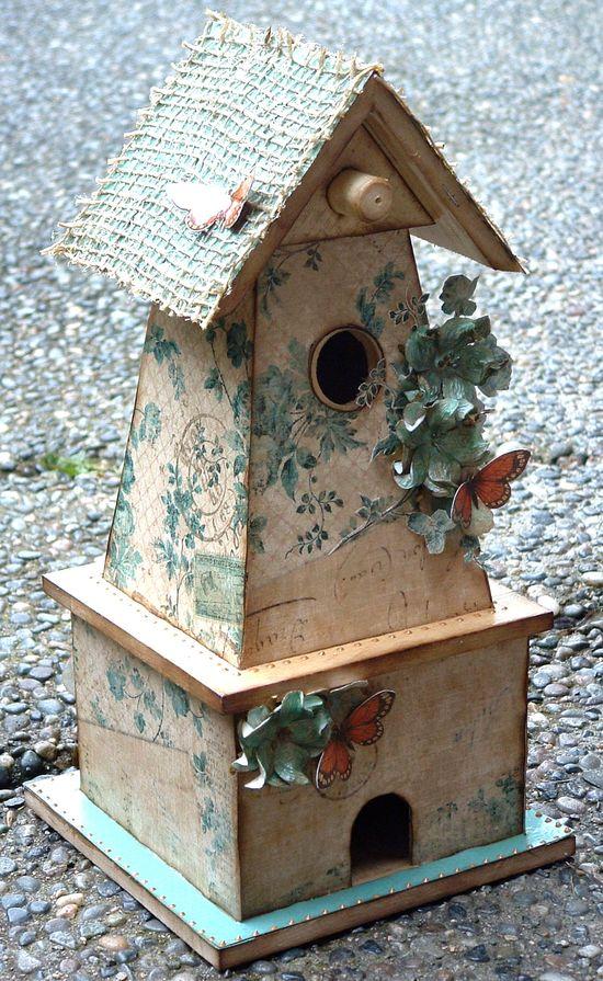 Altered Birdhouse - Scrapbook.com