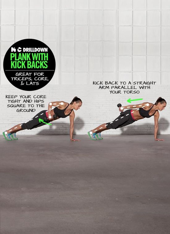 Sculpt triceps and strengthen your core with this combo drilldown from NTC. Challenge yourself and try to do 50 on each side. #training #drills #workout #nike