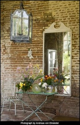 I love old brick and stone on inside walls of houses