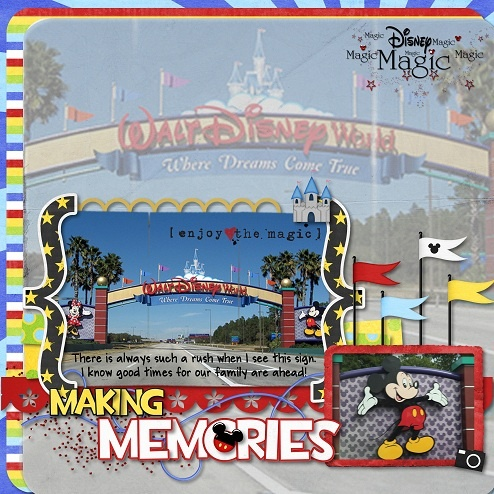 #papercraft #scrapbook #layout #Disney love how this came out...