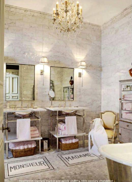 parisian style guest bathroom