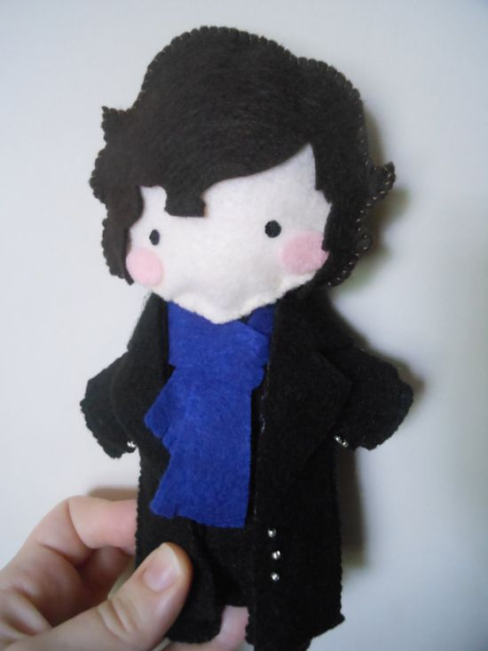 Sherlock Hand-Made Plushie - @Bethany , think this would be going too far? :p