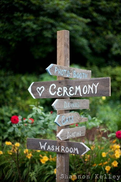 wedding signs. rustic.