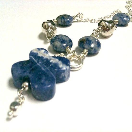 Blue Sodalite Necklace Gemstone Jewelry Gemstone by cdjali on Etsy, $20.00