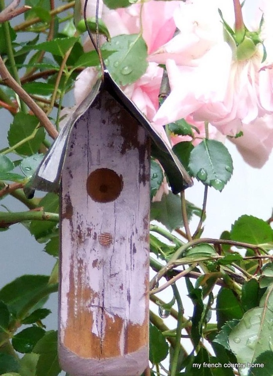 Pink bird house from My French Country Home