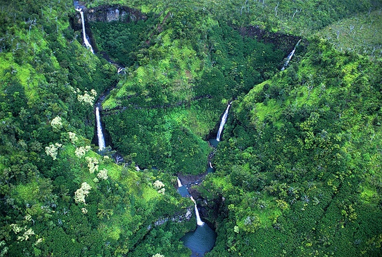 "Kahili Falls ""the Five Sisters"" - Kauai, Hawaii"