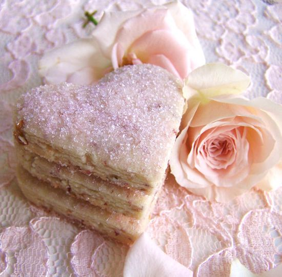 rose petal tea cookies