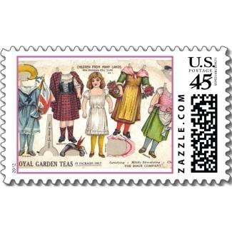 Vintage Paper Doll Stamps