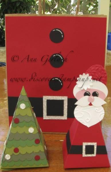Santa & Christmas Tree Petal Cone die by Stampsuser - Cards and Paper Crafts at Splitcoaststampers