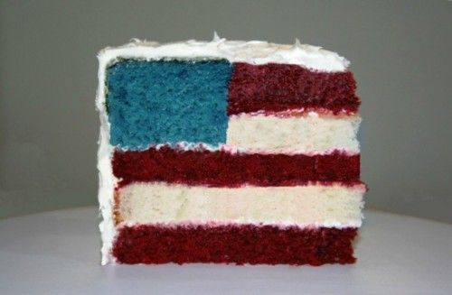 4th of July flag cake {looks like a lot of work, but i love it}