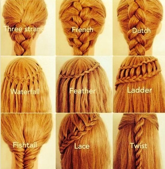 Different braided hair styles. Love it!