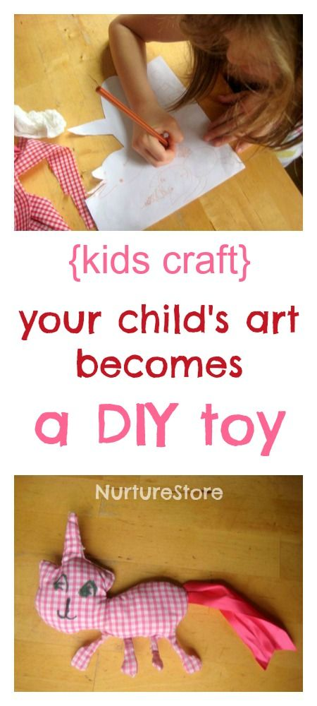 A fantastic how-to that shows you how to make a ragdoll from your child's own drawing.