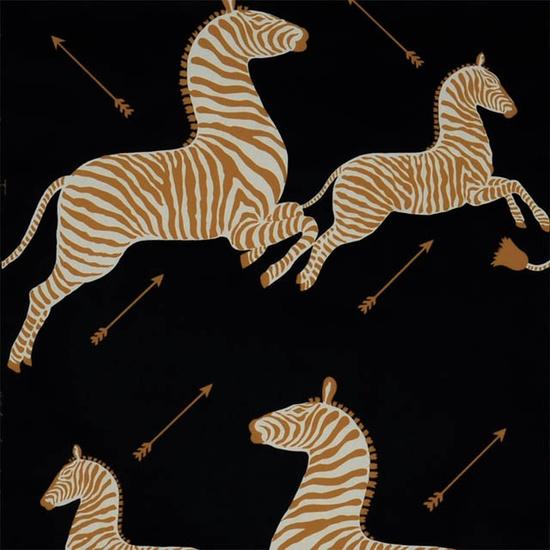scalamendre zebras in black + gold!