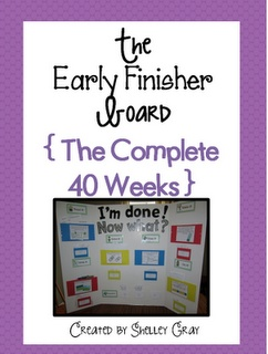The Early Finisher Board consists of seven sections: Read It, Write It, Solve It, Make It, Do It, Draw It and Journal It. Each section consists of a fun activity that students can take to their desk and complete.