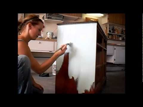 diy chalk paint furniture painting techniques - YouTube