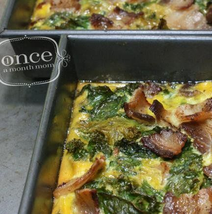 Bacon & Kale Breakfast Casserole #paleo #breakfast #freezercooking #oamc