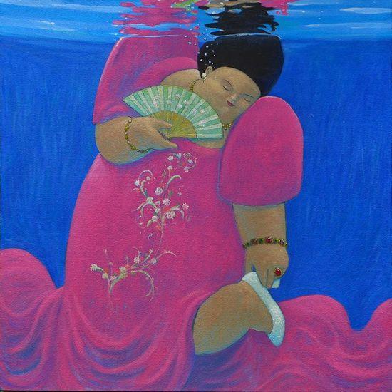 """My Shoe Got Wet"" from Raymond J. Legaspi's AQUARIUM series."