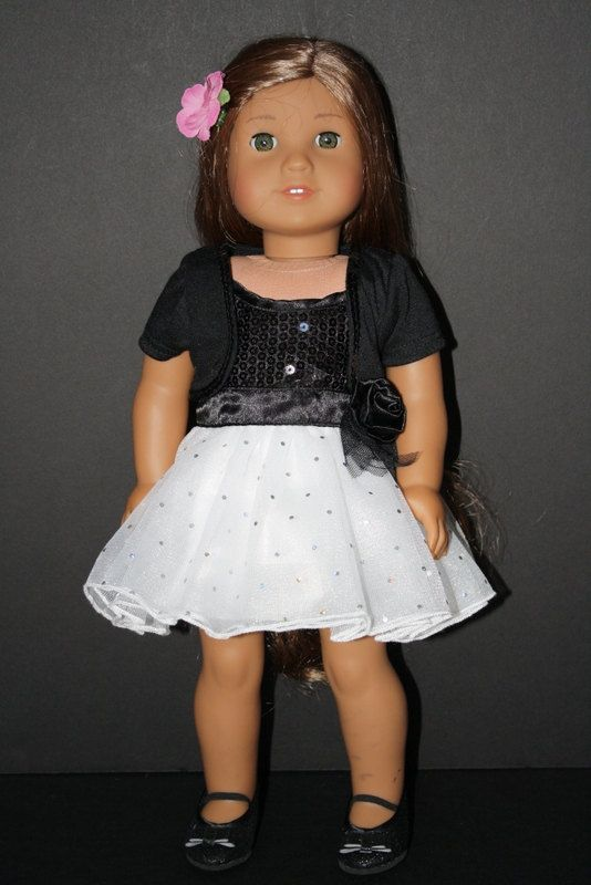 """American Girl 18"""" Doll Formal Sequin Dress with Matching Shrug"""