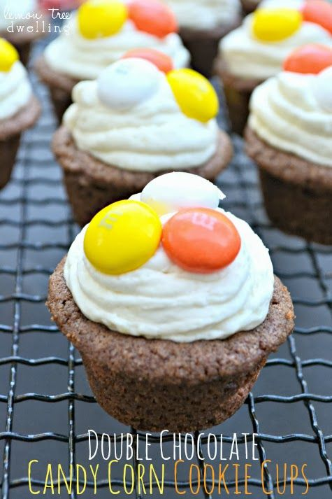 Double Chocolate Candy Corn Cookie Cups