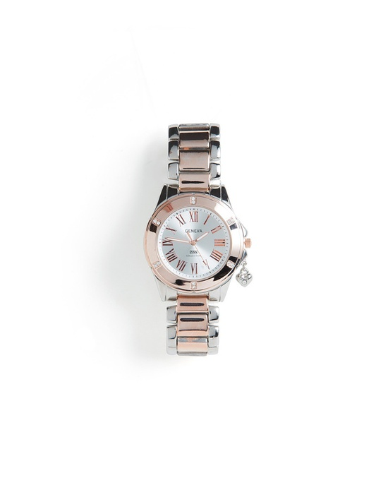 Silver + Rose Gold Watch