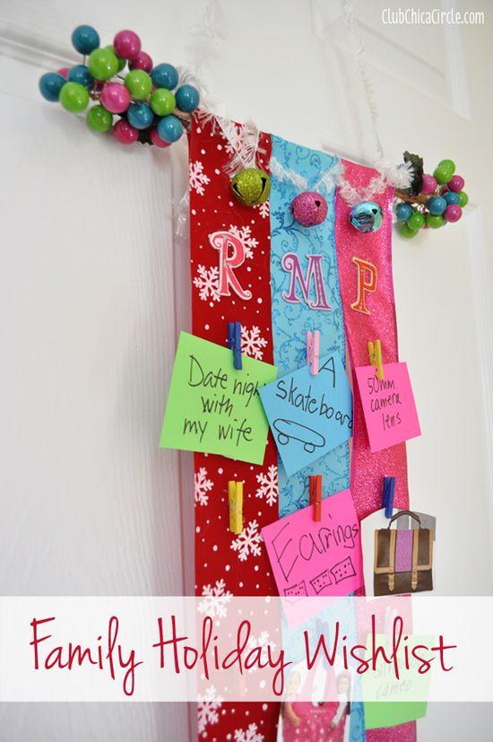 Family Holiday Wishlist Craft Idea