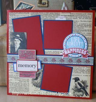 vintage scrapbook layout