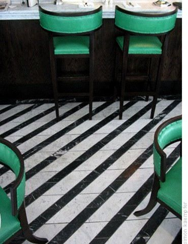 green chairs and stools