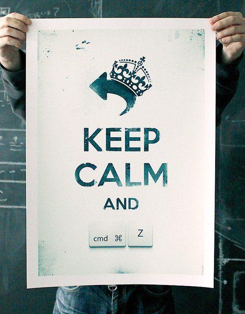 Fancy - Keep Calm and Undo Print