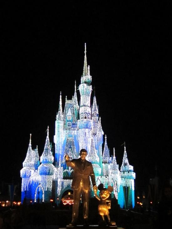 An icy Cinderella's castle. More #Disney: tandl.me/XnNxm9