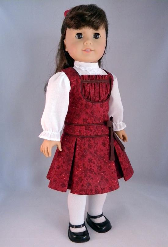 1900s Jumper & blouse set for American Girl Doll Samantha/Nellie/Rebecca - An original design from Bringing Joy. $55.00, via Etsy.