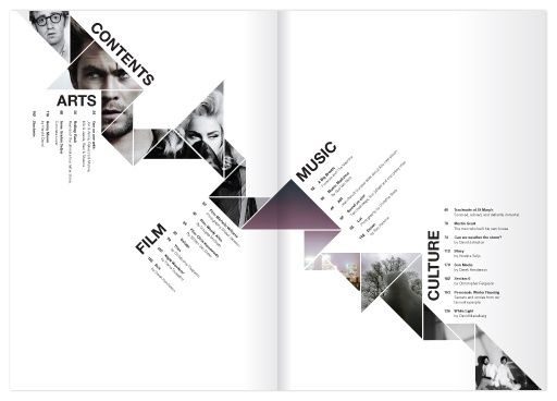 Table of contents Kaleid Arts & Culture Magazine on Behance