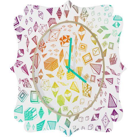 Iveta Abolina Colorful Crystals Quatrefoil Clock #home #decor #unique
