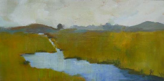 original landscape painting water by pamelam on Etsy, $48.00
