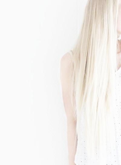 Beautiful white hair.