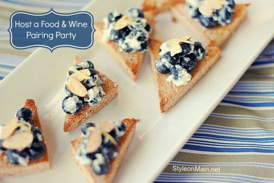 Host a Food & Wine Pairing Party.  Includes lots of #recipes  {via styleonmain.net}