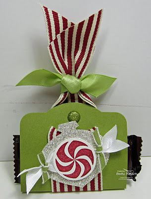 Stampin' Up!  Two Tags Treat Holder  Becky Roberts  Christmas