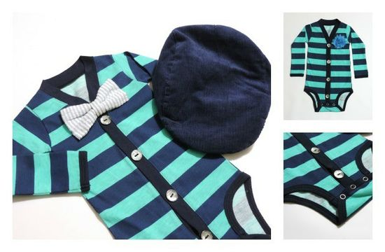 Cardigan Onesies! For Baby Boys