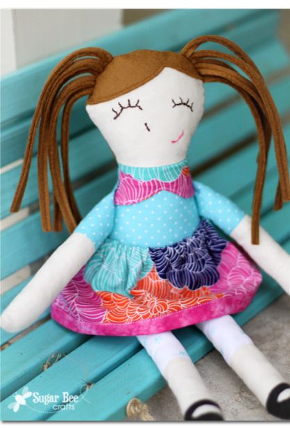 the perfect gift - - a handmade doll - so sweet and perfect!